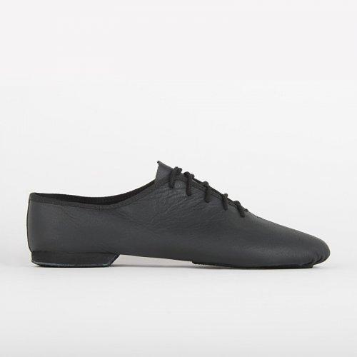 Jazz-Schuh Basic II, Schwarz, Weiß, Tan