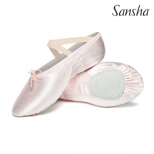 Ballettschläppchen aus Satin