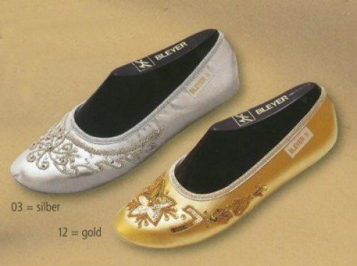 Orientalische Tanzschuhe silber oder gold Bleyer 6310