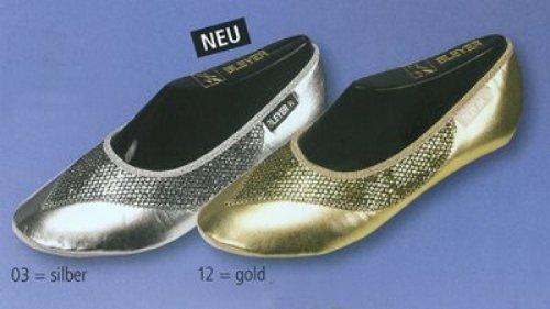 Orientalische Tanzschuhe Bleyer 6308 gold oder silber