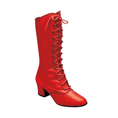 Majorette Stiefel mit Krampen aus Leder in Rot