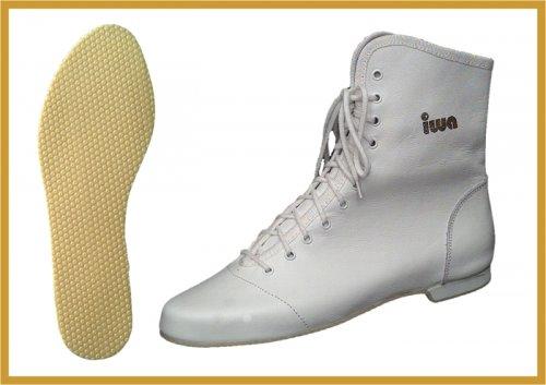 Tanzstiefel IWA 807G in Weiß, Schwarz, Rot, Kornblau, Silber und Gold