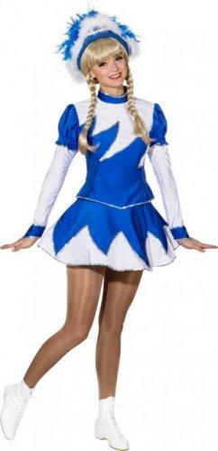 Gardekostüm Marie für Damen, Blau-Weiß