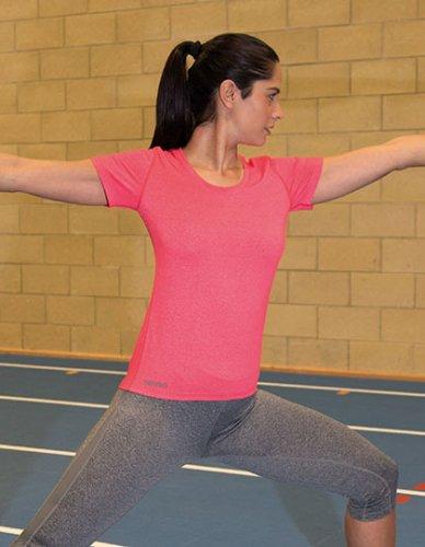 Fitness Womens Shiny Marl T-Shirt von SPIRO