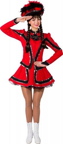 Funkenkostüm für Damen rot-schwarz