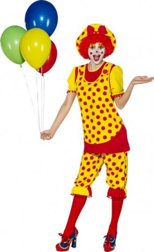 Clownsdame, rot-gelb