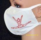 PRIDANCE Mund-Nase-Maske Mariechen, Druckfarbe Glitzerrot für Erwachsene