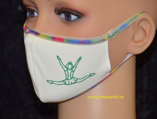 PRIDANCE Mund-Nase-Maske MARIECHEN Druckfarbe Grün für Kinder