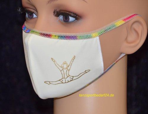PRIDANCE Mund-Nase-Maske MARIECHEN Druckfarbe Gold für Kinder