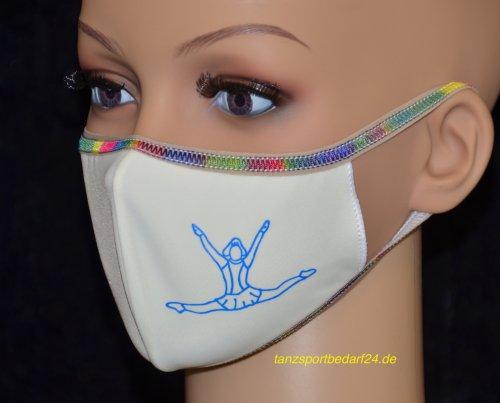 PRIDANCE Mund-Nase-Maske MARIECHEN Druckfarbe Leucht Blau für Kinder